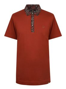 Pretty Green Turner Paisley Collar Polo