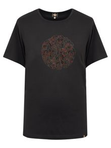 Pretty Green Turner Paisley Logo T-Shirt