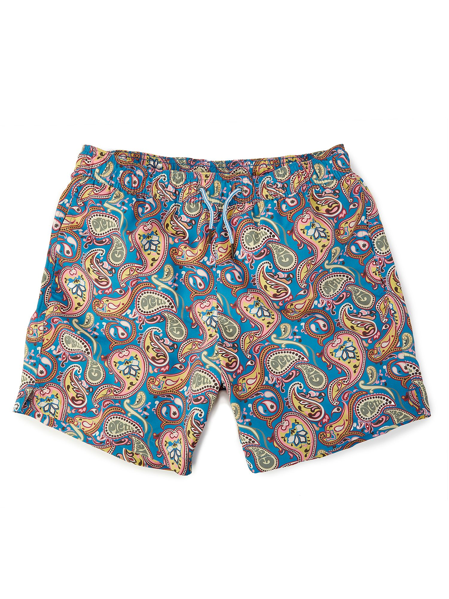Men's Pretty Green Vintage Paisley Swim Shorts, Multi-Coloured