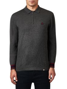 Pretty Green Fernback Knitted Polo