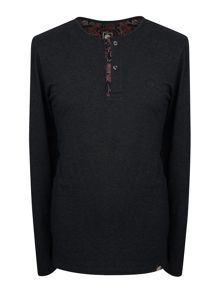 Pretty Green Long Sleeve Turner Placket Grandad