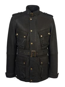 Pretty Green Regent Leather Jacket
