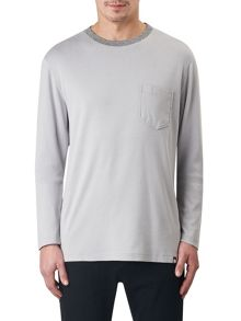 Pretty Green DRAYTON JACQUARD NECK T-SHIRT