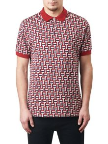 Pretty Green Plecteom Jacquard Polo