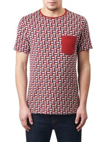 Pretty Green Plecteom Jacquard T-Shirt