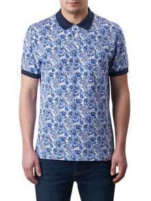 Pretty Green Caversham Paisley Polo Shirt
