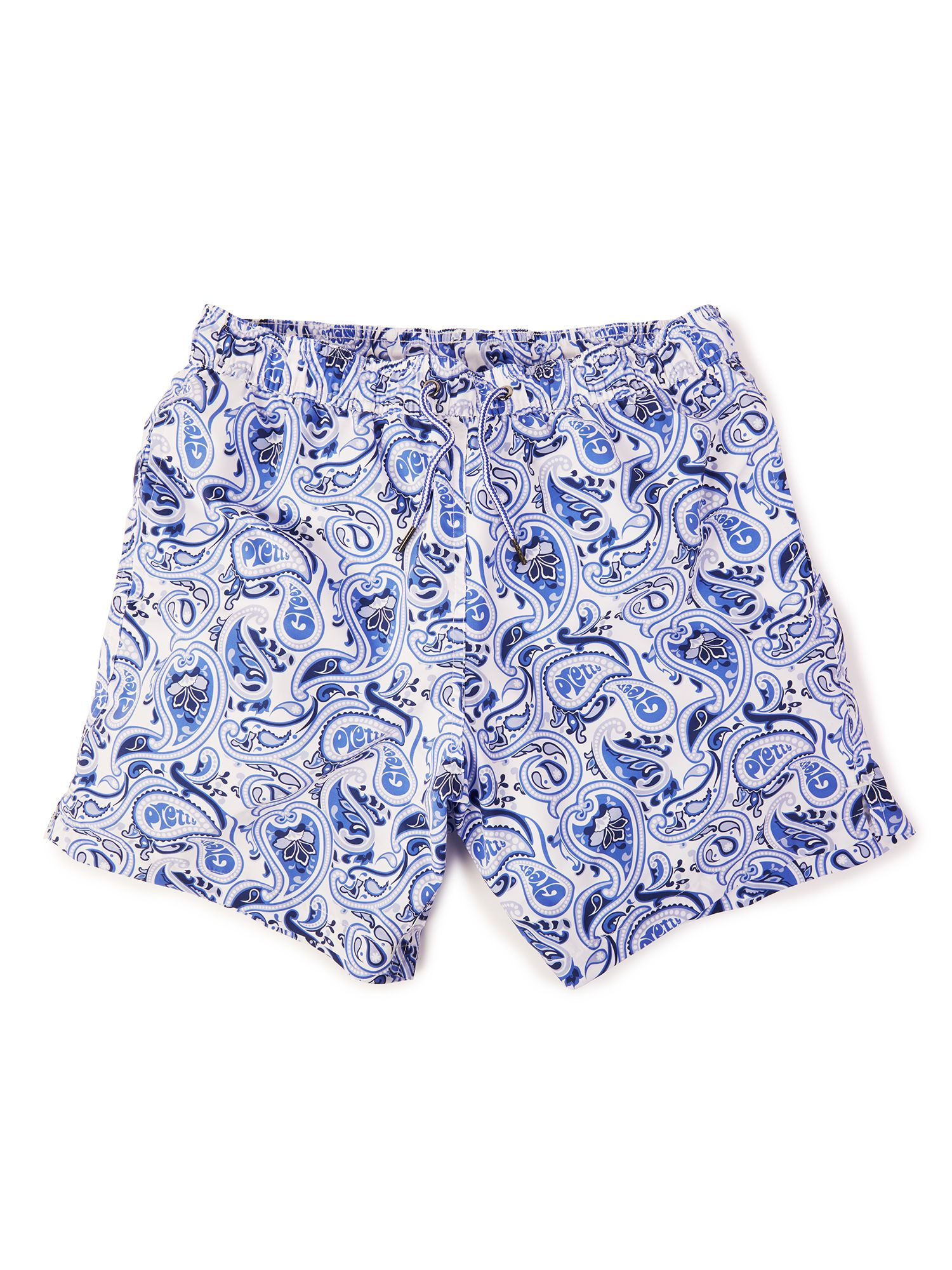 Men's Pretty Green Caversham Paisley Swim Shorts, White