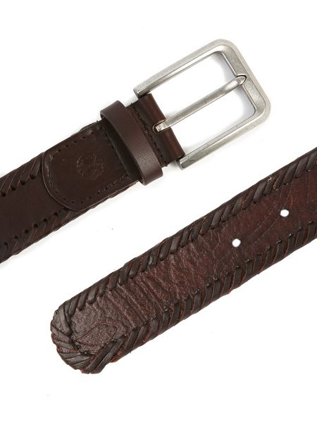 Pretty Green Garby Woven Leather Belt