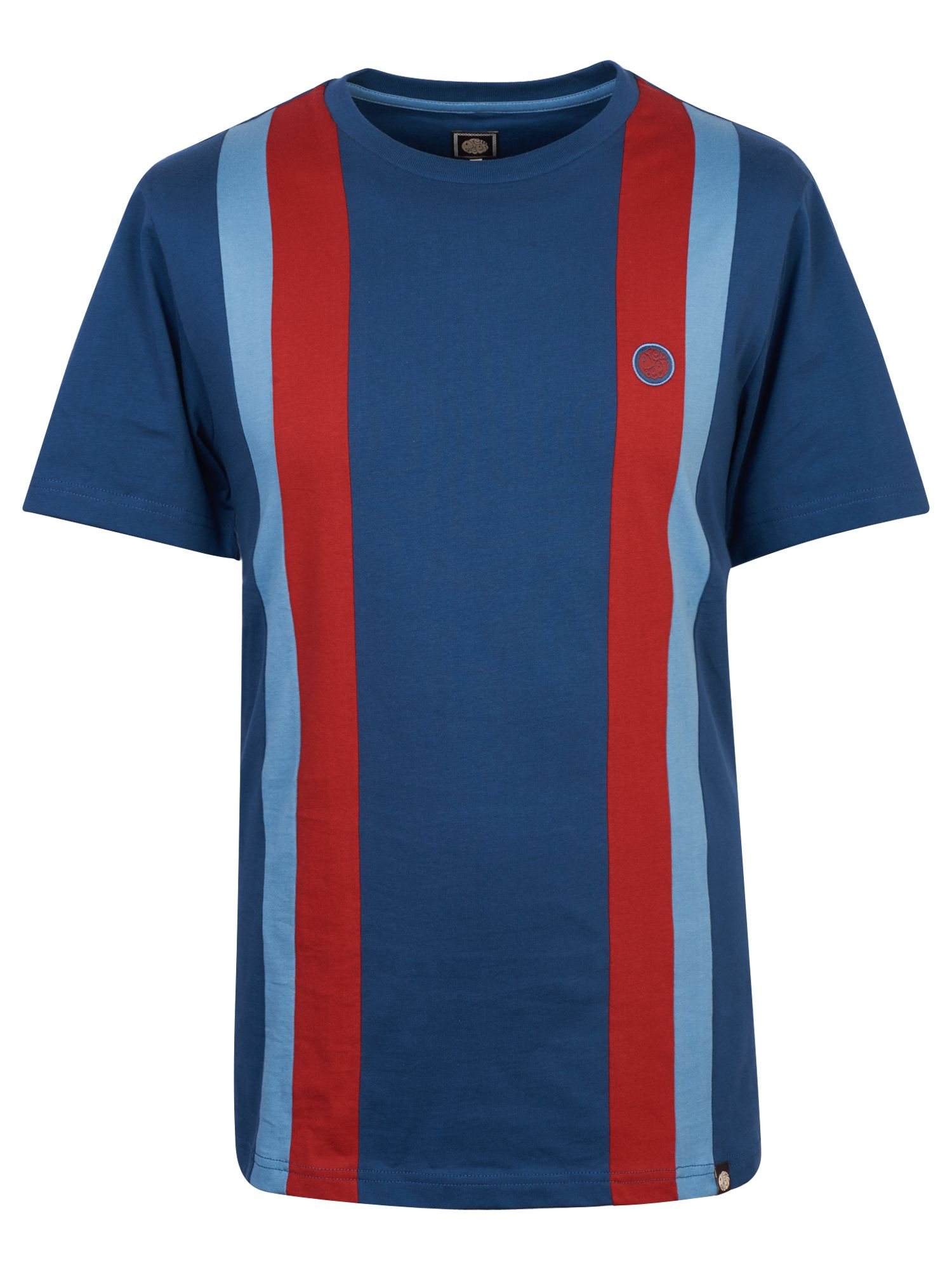 Men's Pretty Green Striped T-Shirt, Dark Blue