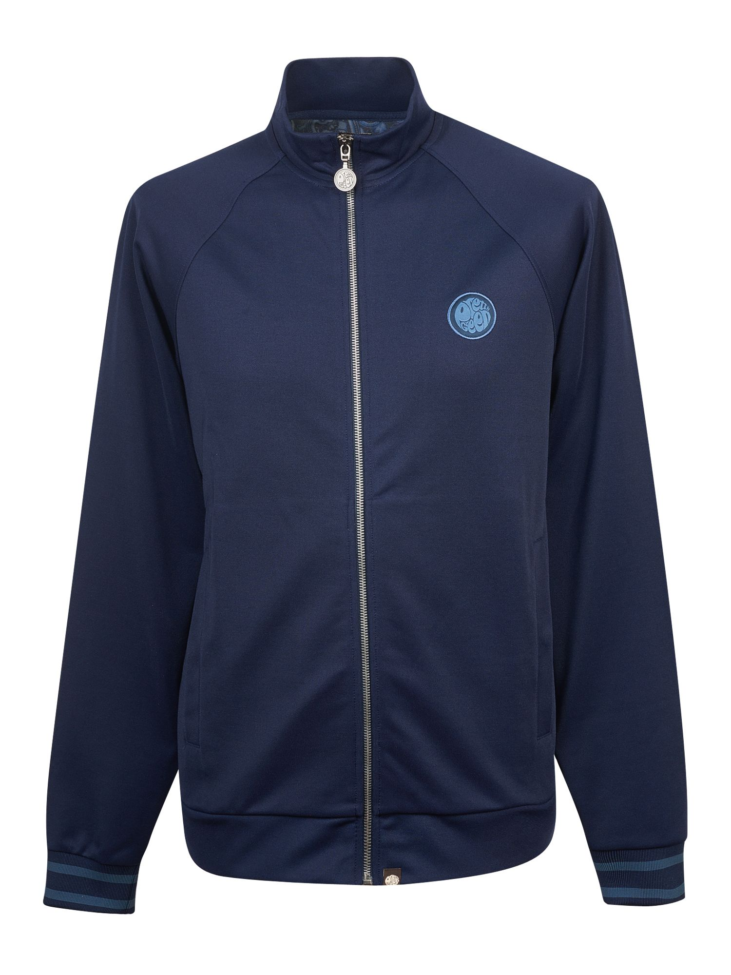 Men's Pretty Green Zip Through Track Top, Blue