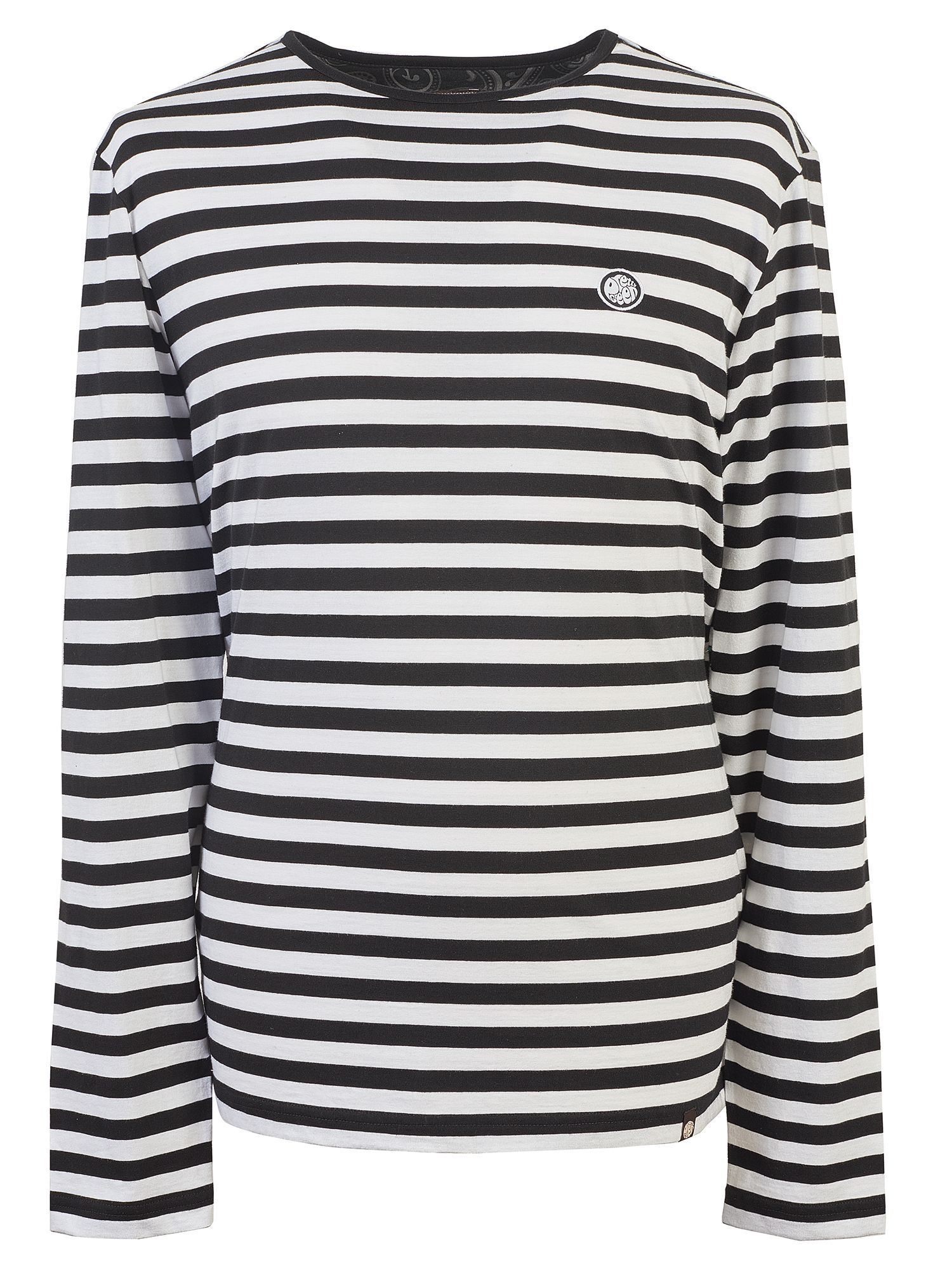Men's Pretty Green Long Sleeve Striped T-Shirt, Black