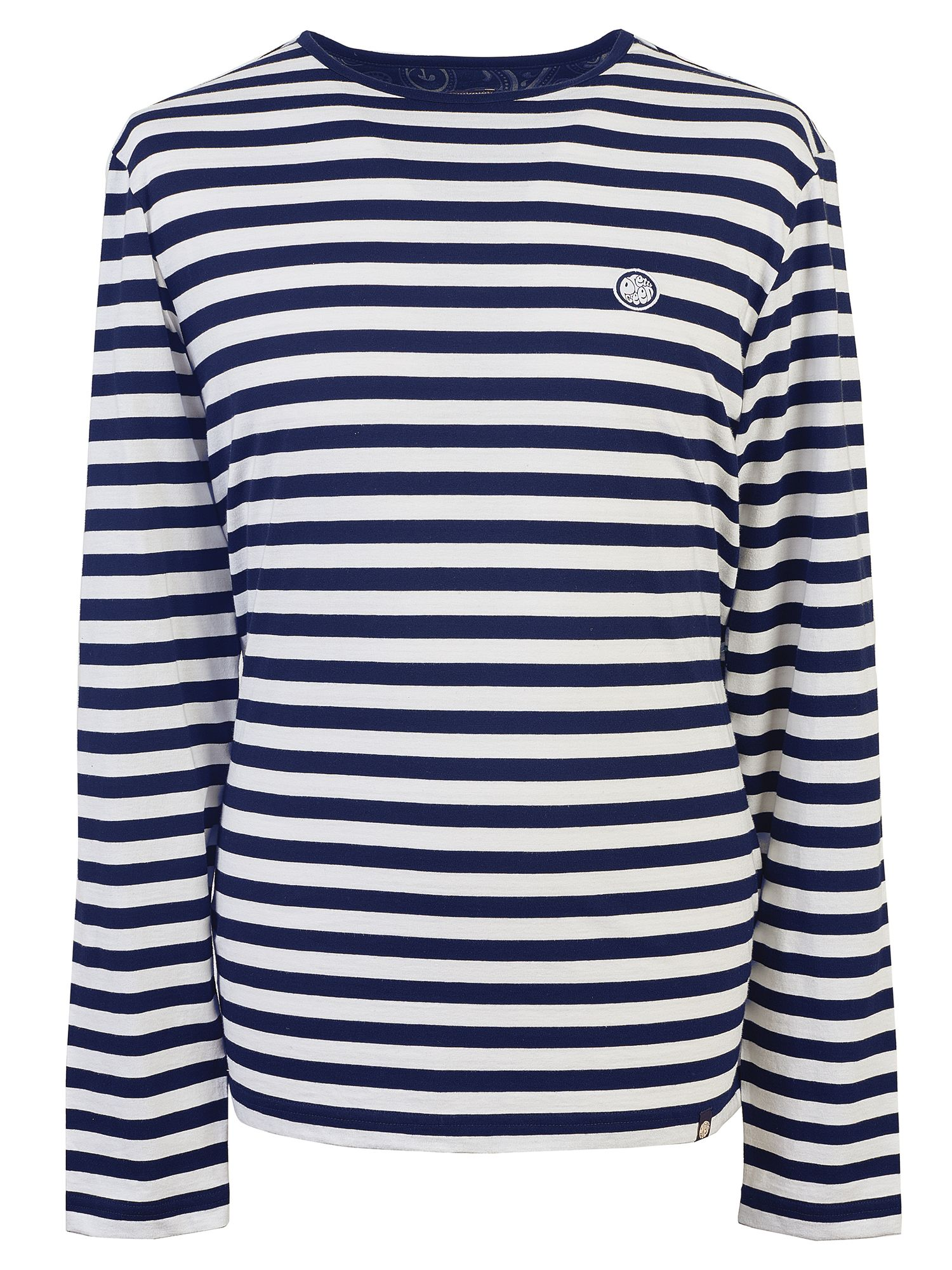 Men's Pretty Green Long Sleeve Striped T-Shirt, Blue