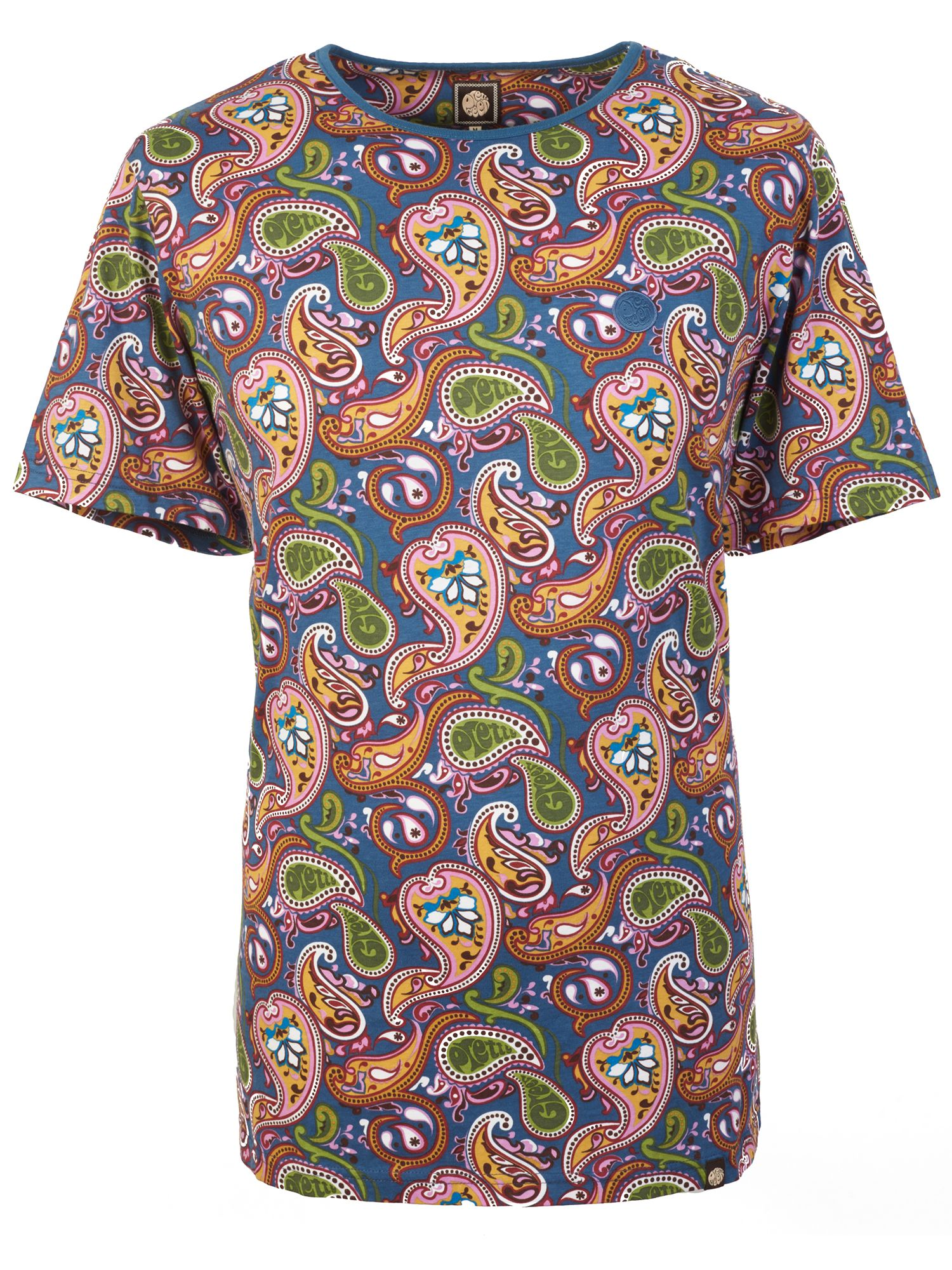 Men's Pretty Green Paisley Print T-Shirt, Multi-Coloured