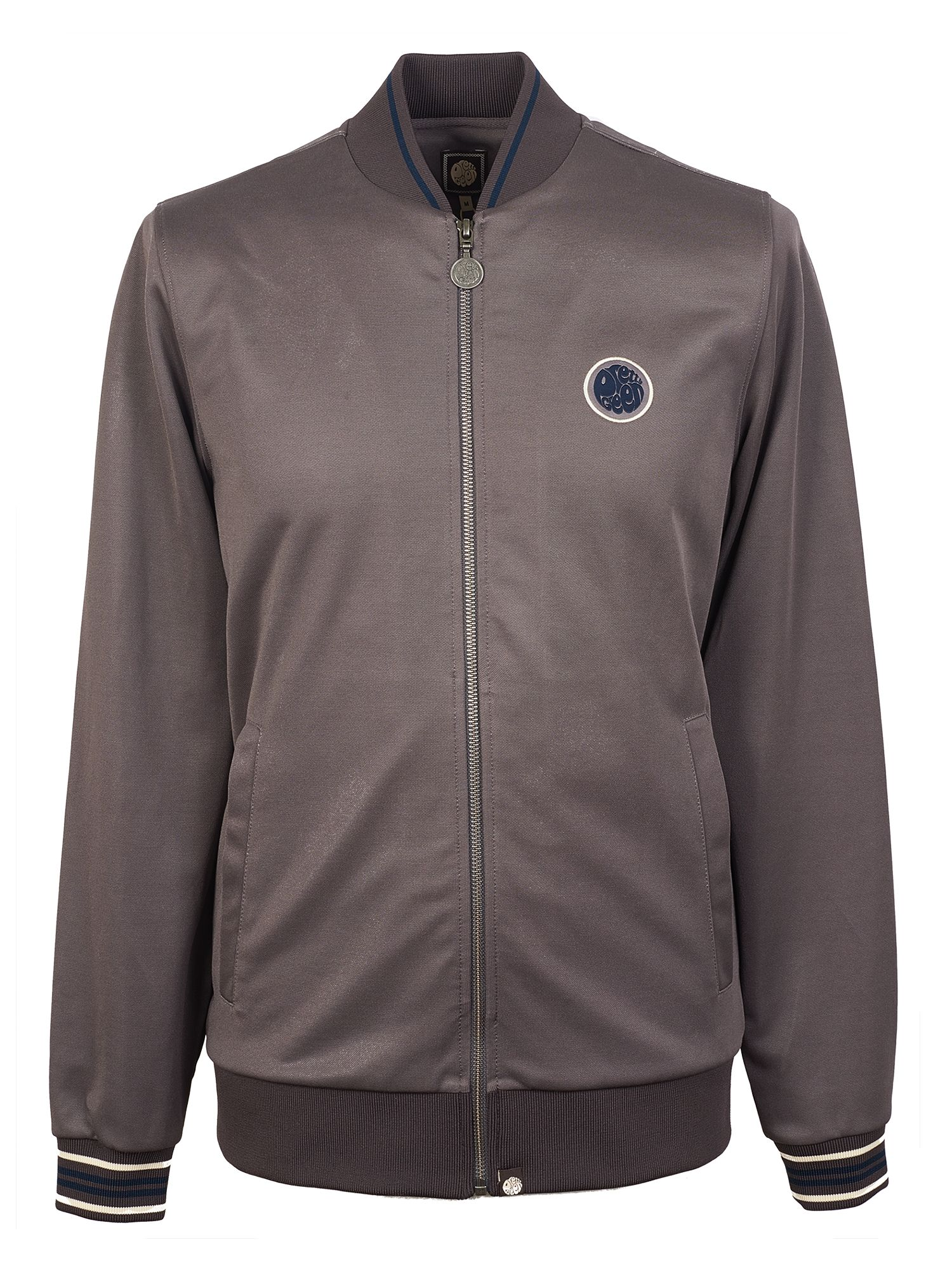 Men's Pretty Green Contrast Tipped Track Top, Grey
