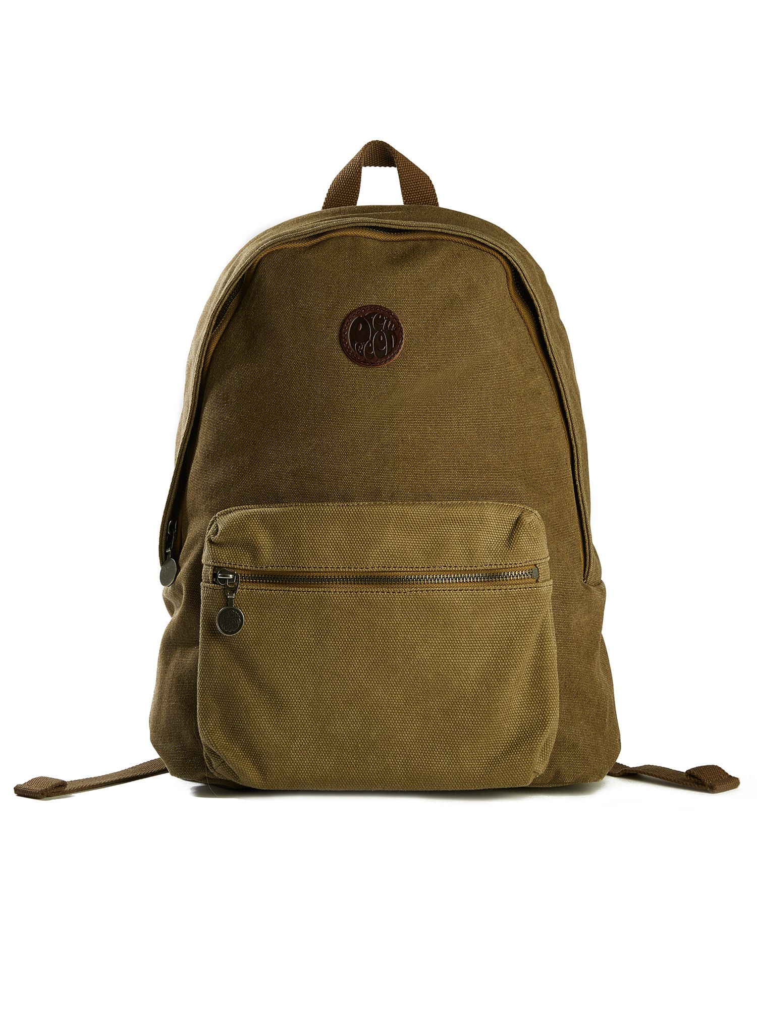 Pretty Green Canvas Backpack, Khaki
