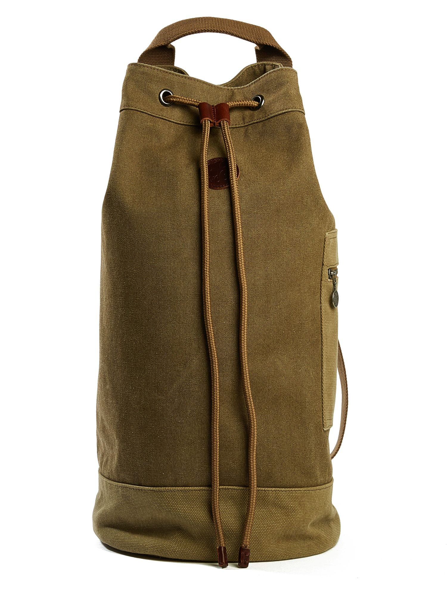 Pretty Green Canvas Duffle Bag, Khaki