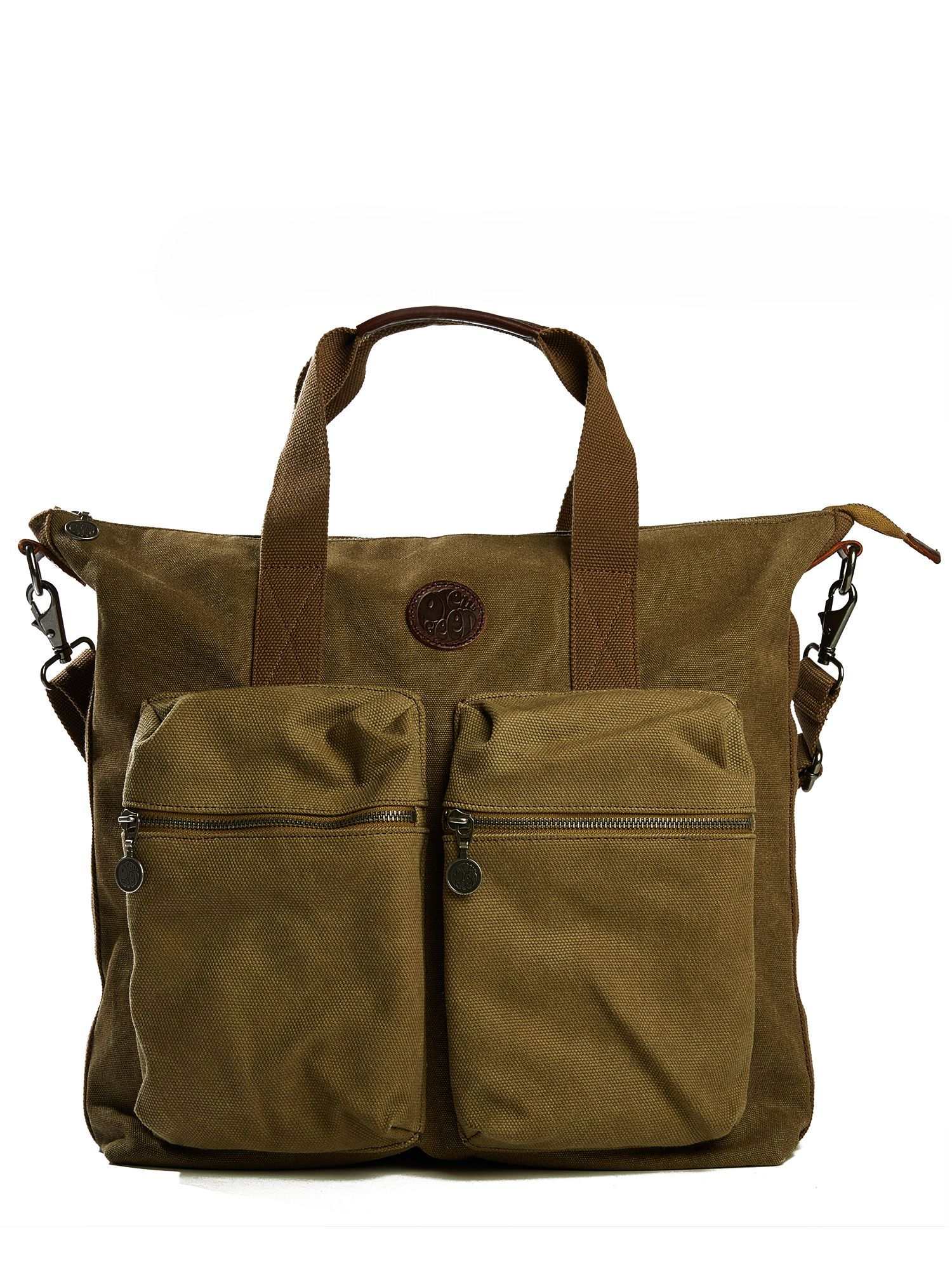 Pretty Green Canvas Tote Bag, Khaki