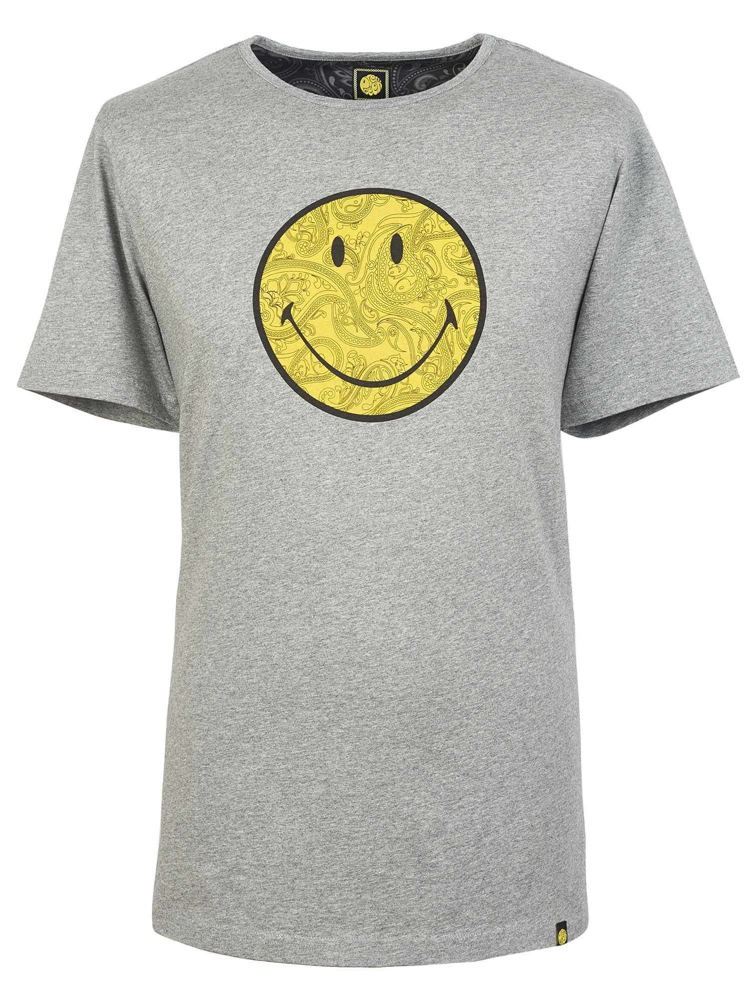 Men's Pretty Green Smiley Logo Print T-Shirt, Grey