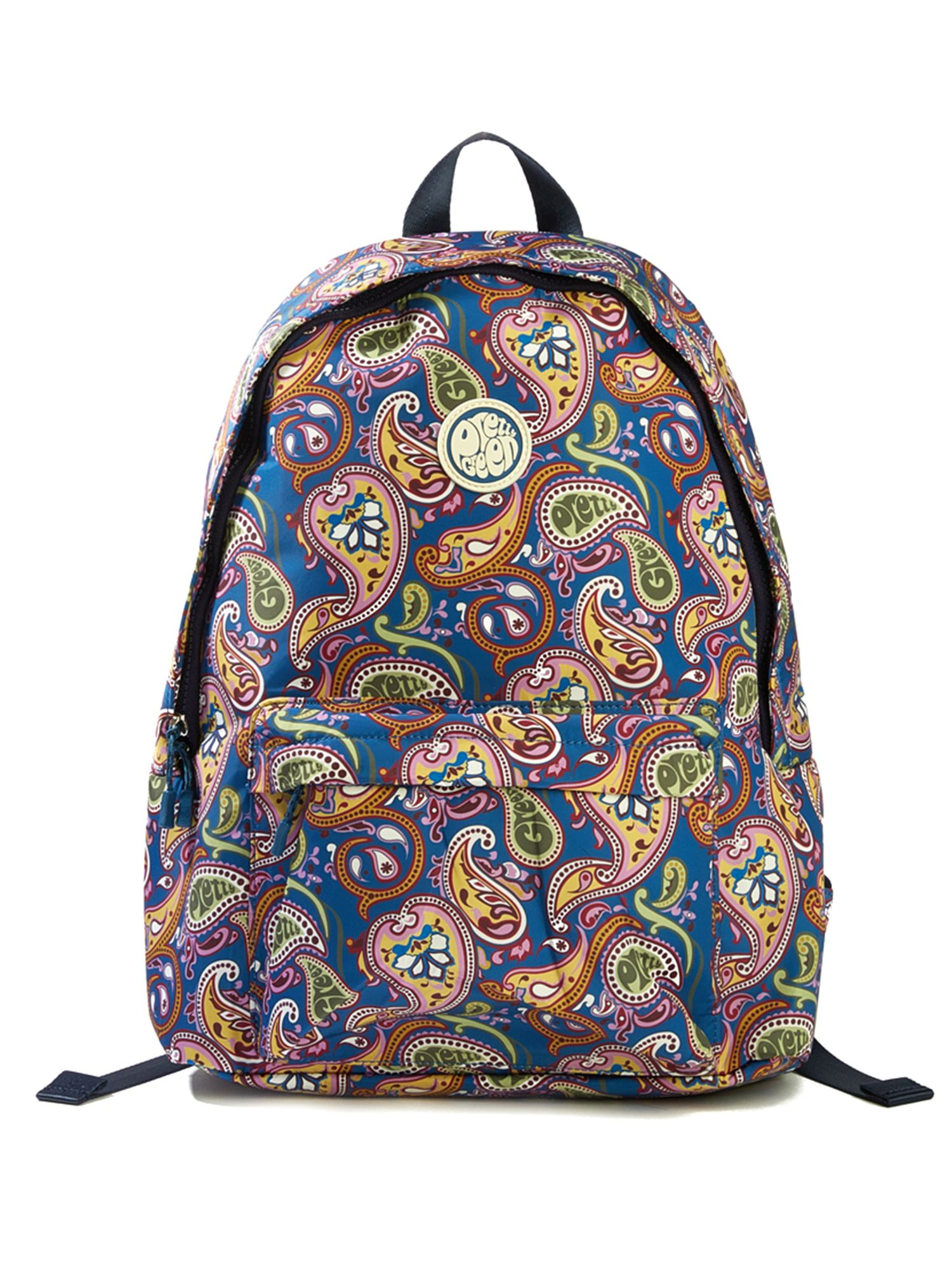 Pretty Green Nylon Paisley Print Backpack, Multi-Coloured