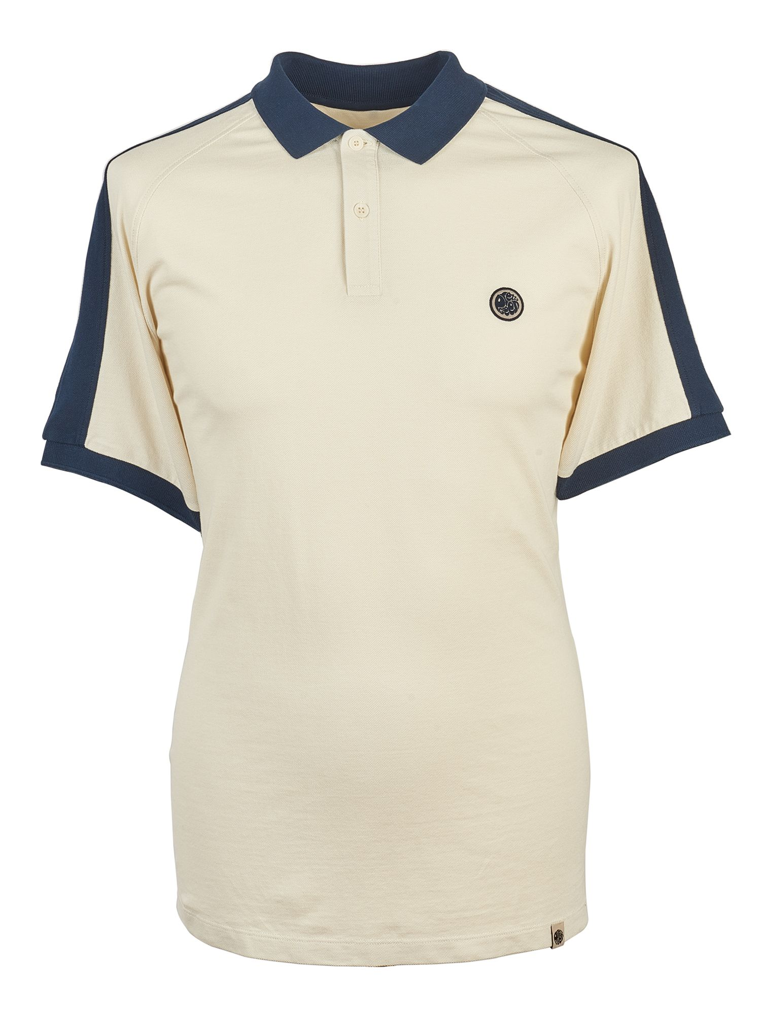 Men's Pretty Green Pique Contrast Panel Polo, Stone