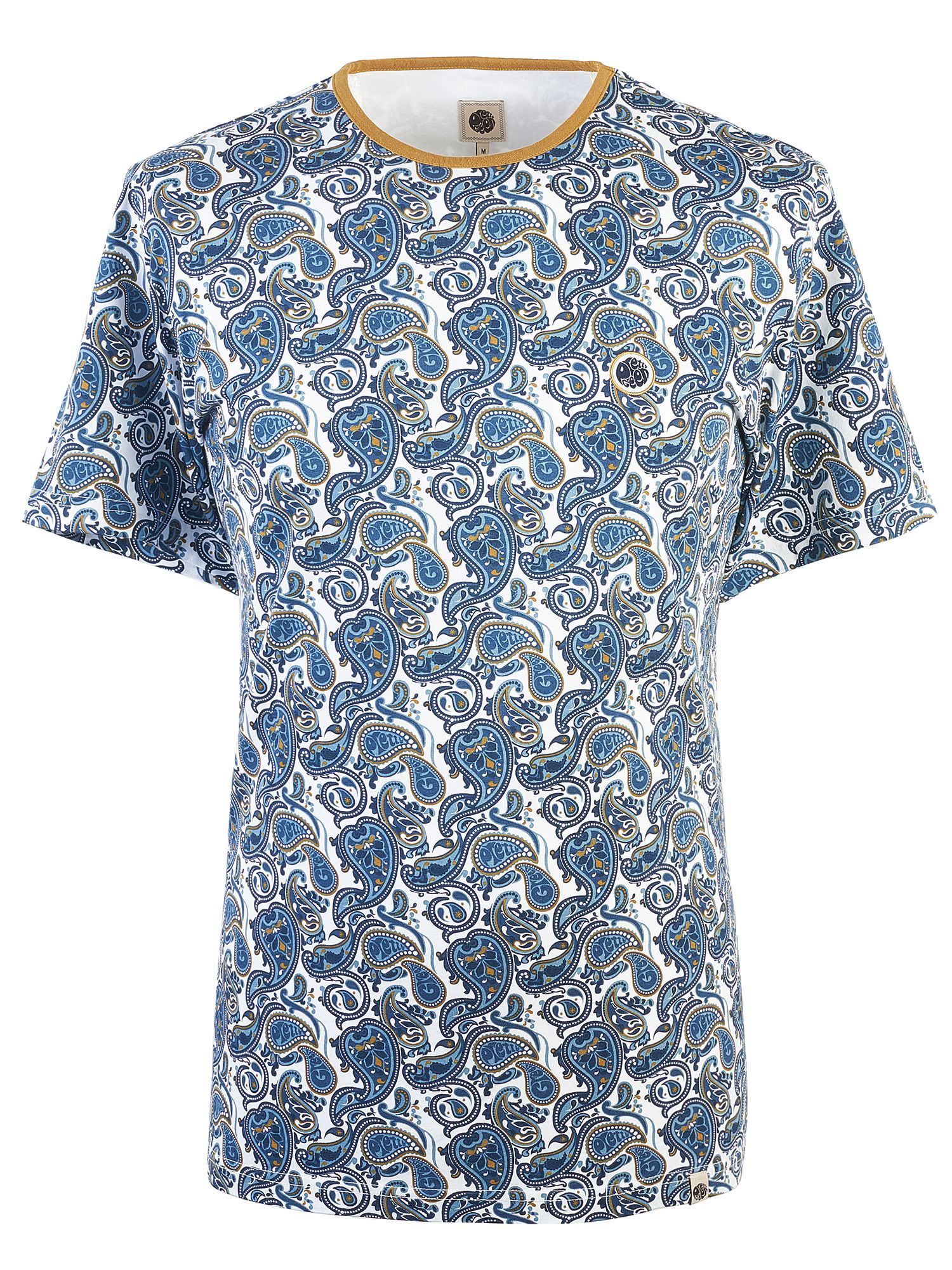 Men's Pretty Green Paisley Print T-Shirt, White