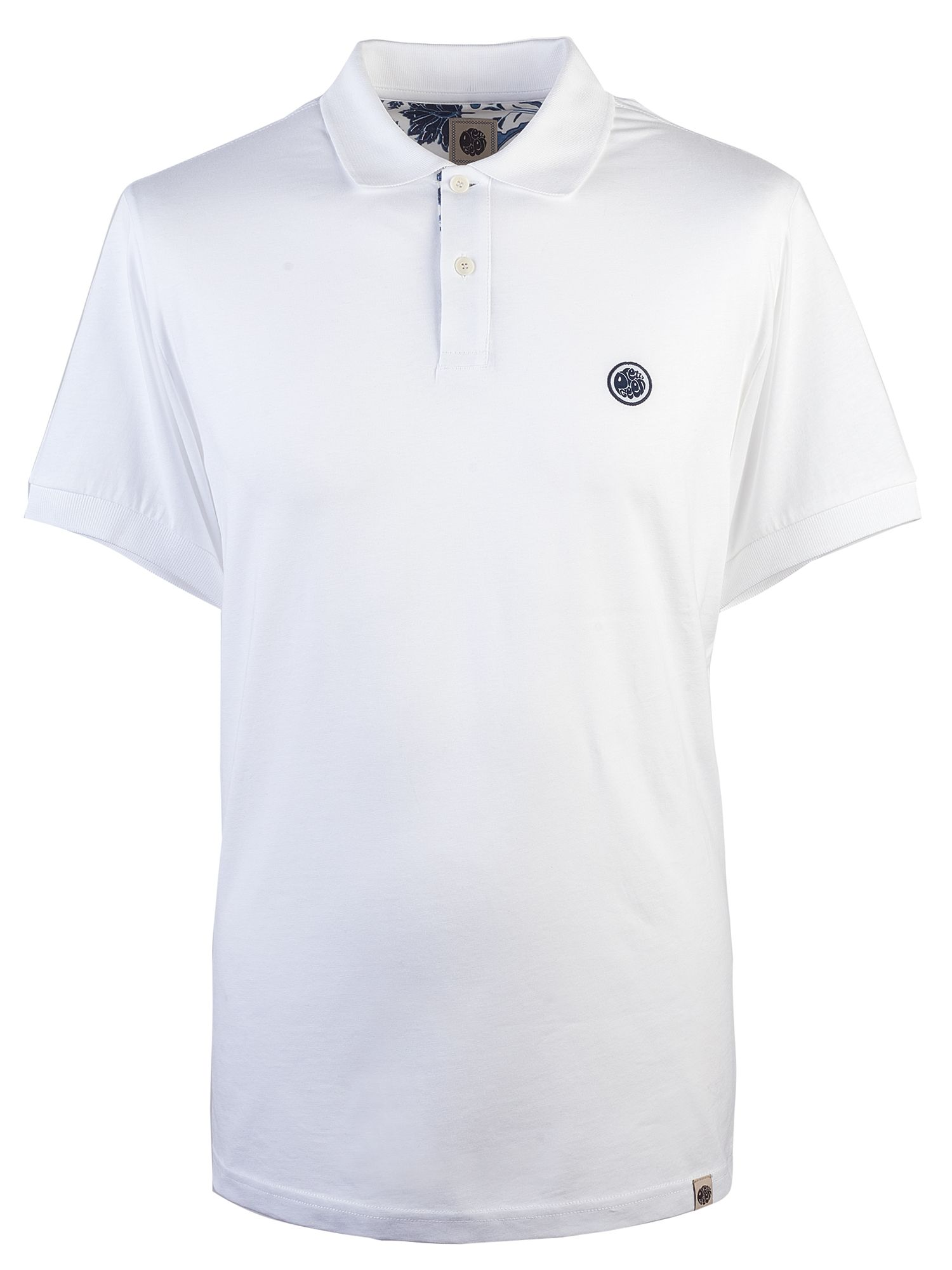Men's Pretty Green Cotton Polo Shirt, White