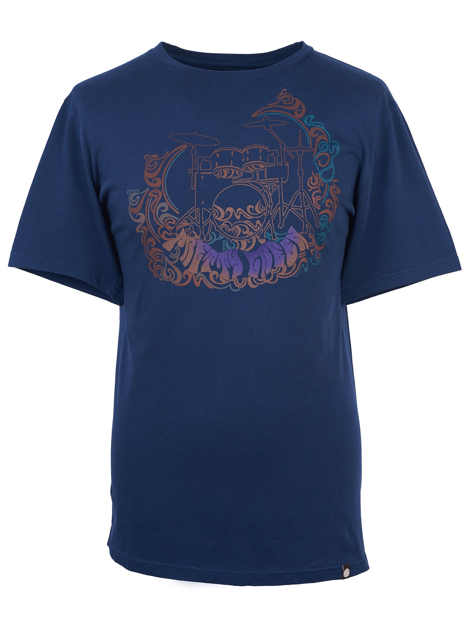 Men's Pretty Green Drum Print T-Shirt, Blue
