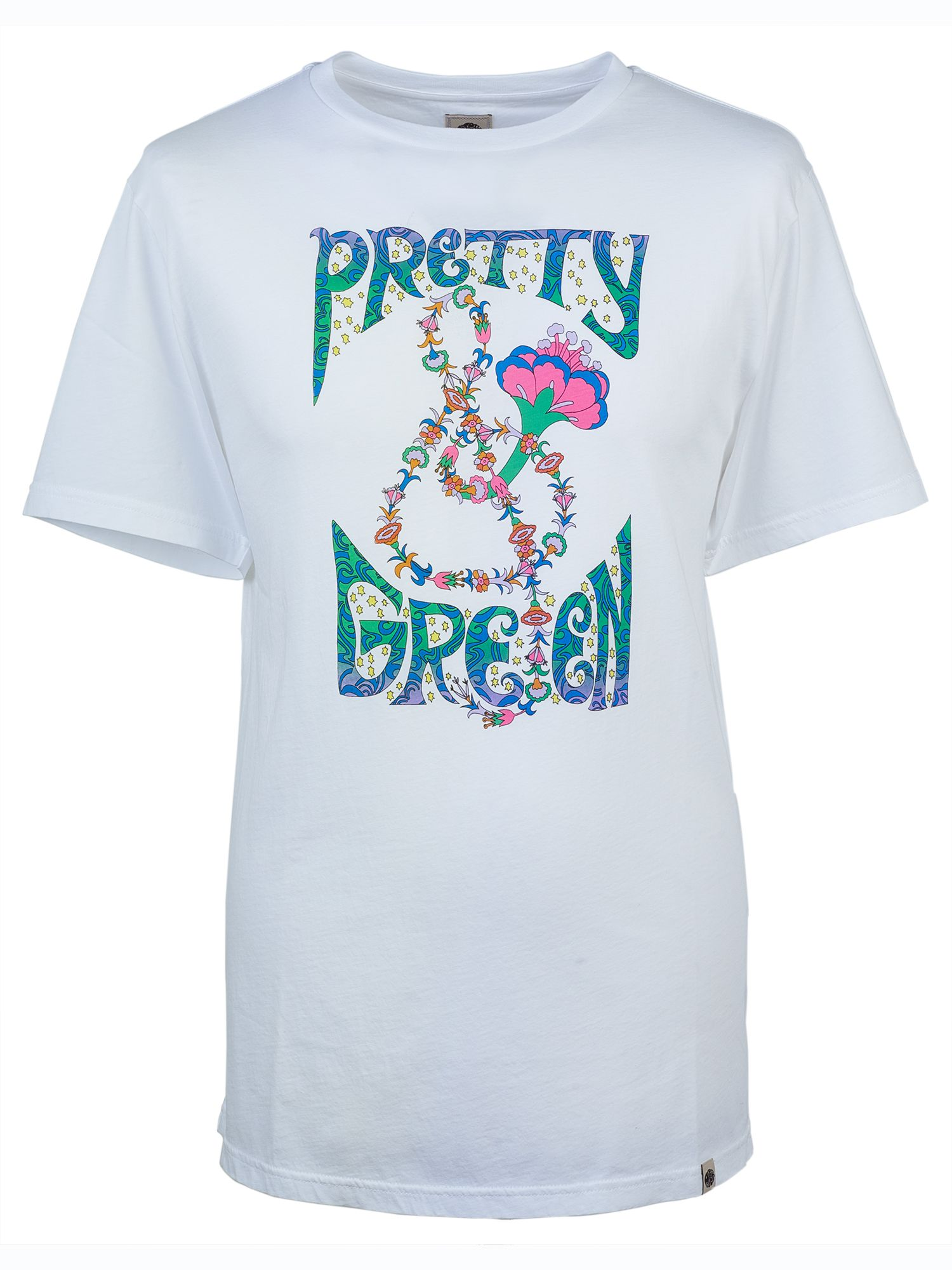 Men's Pretty Green Print T-Shirt, White