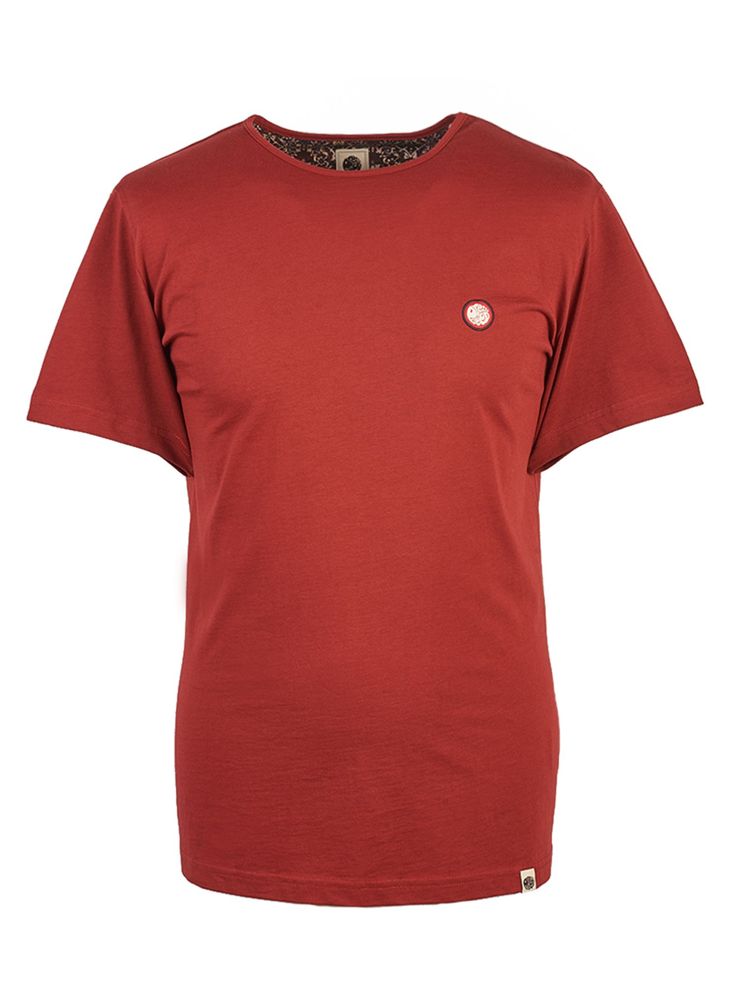 Men's Pretty Green Cotton T-Shirt, Red