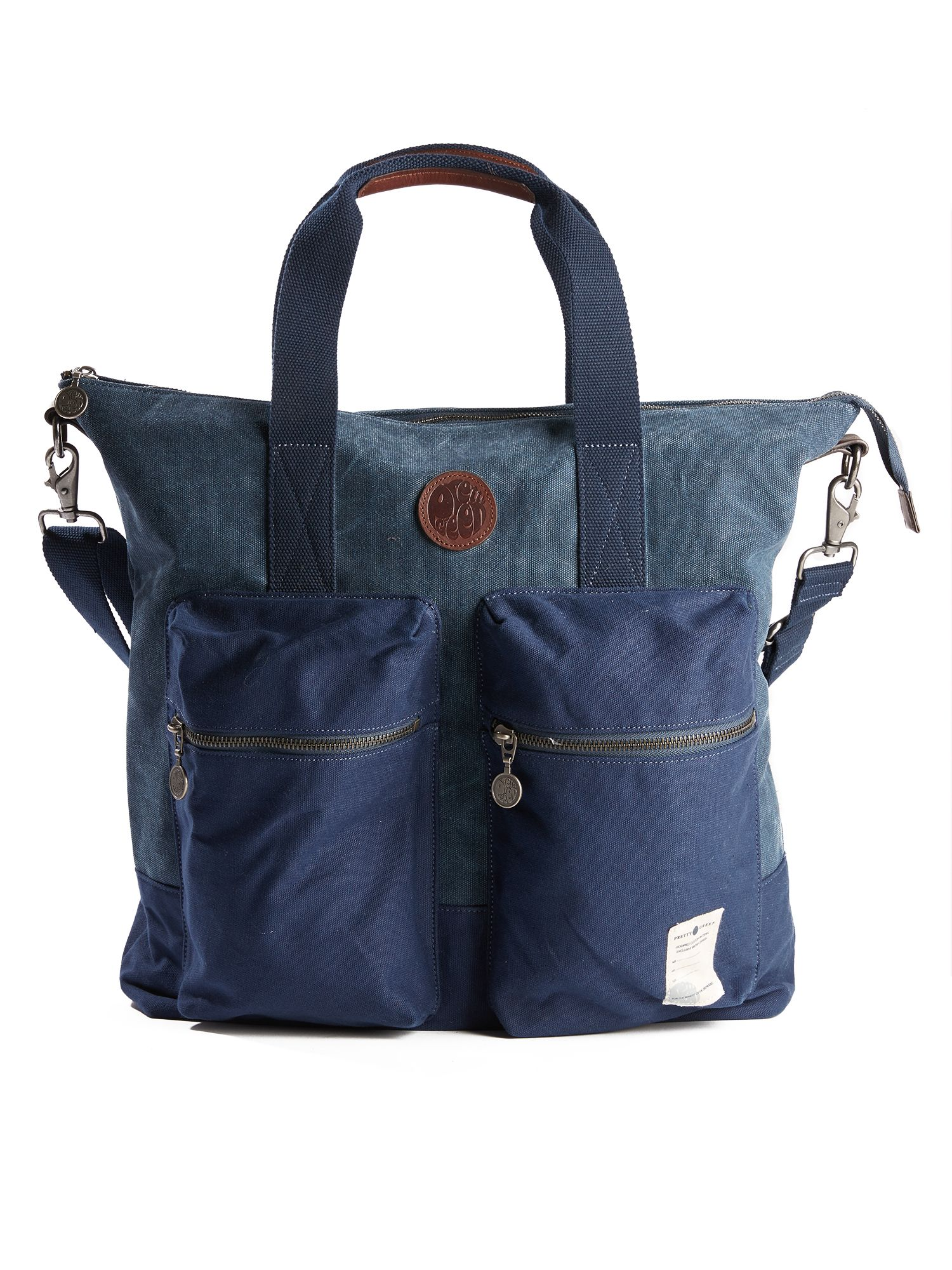 Pretty Green Canvas Tote Bag, Blue