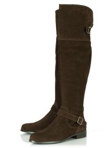 Equestrian flat over knee boots
