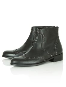 Bobbins flat ankle boots