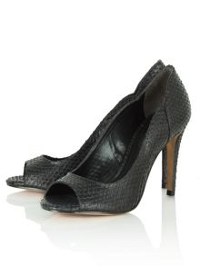 Reptilia reptile peep toe court shoes