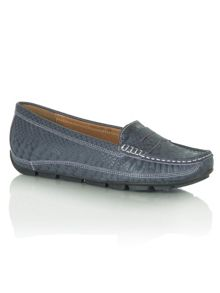 Reptile gaffle flat loafer