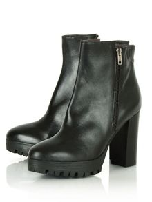 Hershy high heel cleated ankle boots