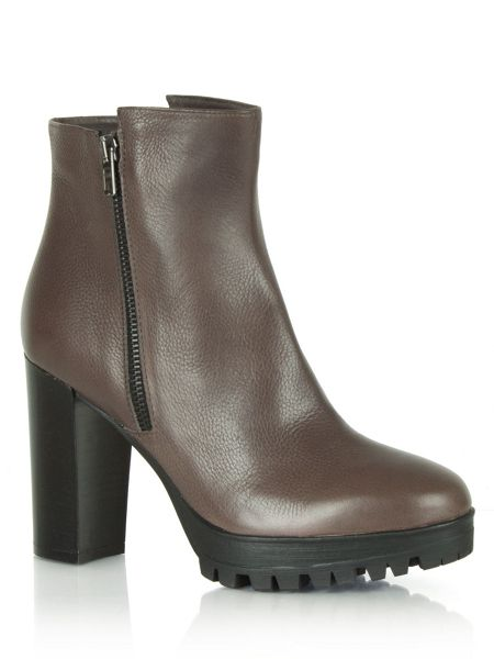 Daniel Hershy high heel cleated ankle boots