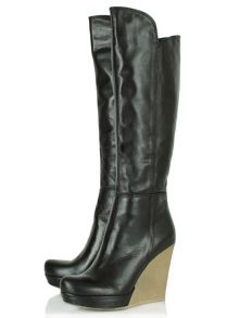 Wisdom knee high wedge boots