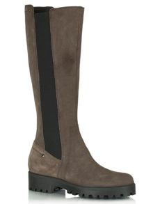 Cleated knee high boots