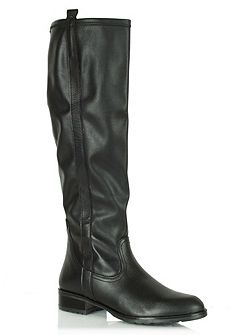 Tearing knee high boots