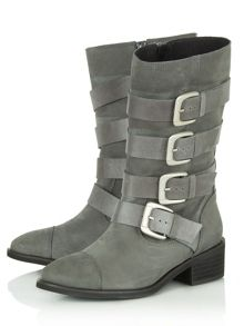 Denia buckle calf boots