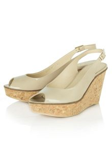 Manor wedge sling back shoes