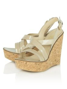 Pavillion wedge strappy sandals