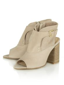Ernesta perforated peep toe ankle boots