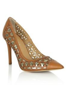 Brookhaven laser cut court shoes