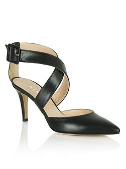 Maida vale thick strap court shoes