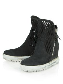 Perfy perforated high top trainers