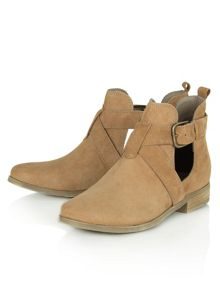 Pyranees strap detail ankle boots