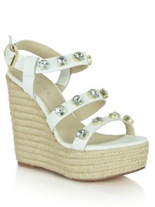 Central park jewelled wedge sandals