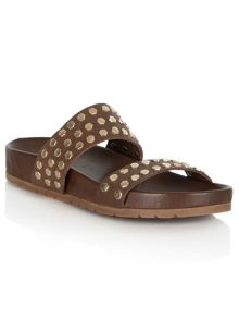 Roosevelt avenue stud two strap sandals