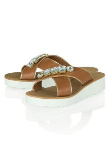 Camden town jewelled  slip on sandals